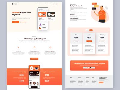 Website UI design sakthi ™ landingpage landing page design uiux mobile website design website concept website design website