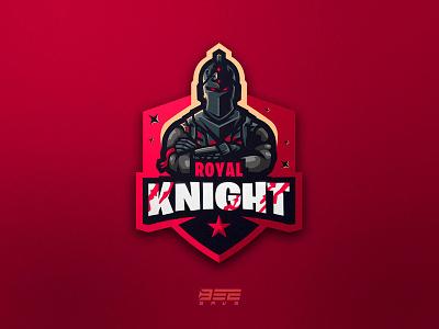 Royal Knight esports esportlogo design branding vector fortnite logo illustration