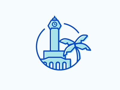 Weekly Warm-Up 01: Hometown Sticker weekly warm-up illustration logo warmtown dribbbleweeklywarmup sticker warmup