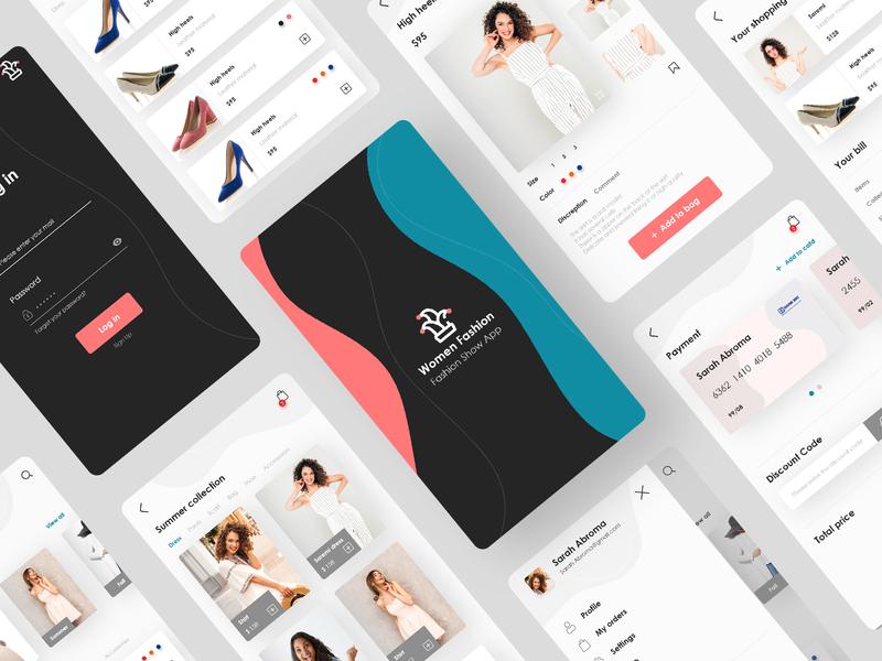 Women Fashion women fashion adobe xd xd design xd fashion shopping app minimal fashion app app application web design photoshop uiux design ui ui design app design