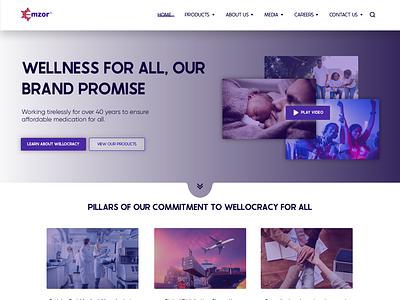 Emzor pharmaceuticals website redesign ux ui interface icon vector ui  ux ux design ui design app design android app design