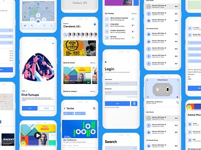 Turnuphub app Ui/Ux design ui web design ui design interface ux design ui  ux ios app design android app design illustration app design