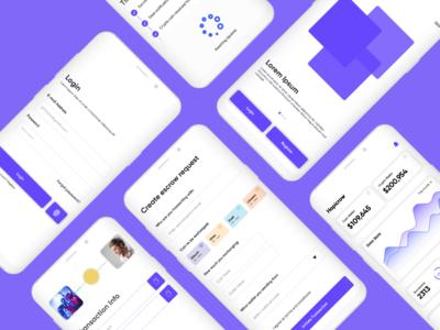 Fintech escrow app ui design