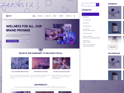 Pharmaceutical company website redesign project landing page landing interface creative clean cute layout minimal website pharmacy pharmacy website website design app design android app design ux design ui  ux web design cuberto design ui design