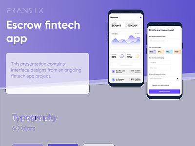 Escrow fintech app website concept bankingapp bank fintech finance clean ui website design ios app android app website ui ux web design interface design app design android app design ux design ui  ux ui design