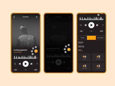 Audiomack music player design application audiomack music player ios design interface web design uiux mobile uiux product design mobile ui app app design android app design ux design ui  ux ui design