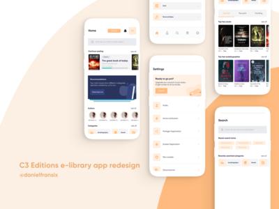 C3 Editions library bookstore app ui/ux redesign ui ios app design web design protopie figma adobe xd app design android app design ui  ux ux design ui design