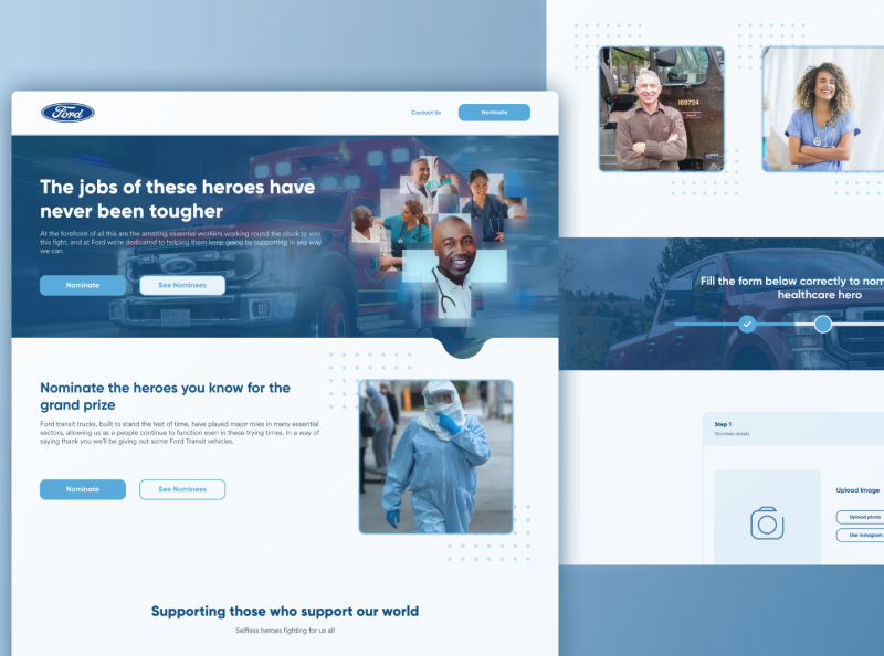 Ford covid workers appreciation website ui design car template webdesign website design websites landing page design landing page website web adobe xd ux ui design web design interface ui  ux app design android app design ux design ui design