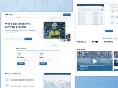 MESPAS shipping software website design website design dashboard software landing page website web adobe xd ui ux design web design vector app design android app design ux design ui  ux ui design