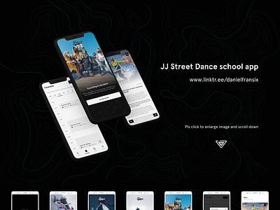 Dance school app ui design iOS/Android news app contact form clock schedule timetable music app app design ux design android app design ui  ux hipster hiphop dancers dance ui design