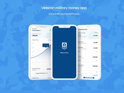 Veteran military money app ux adobe xd design web design interface app design android app design ux design ui  ux ui design