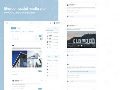 Shareon social media site ux adobe illustrator ui design ui  ux design ux design web design app design android app design interface
