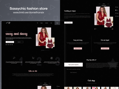 Sassychic fashion store vector adobe xd ux design web design interface app design android app design ux design ui  ux