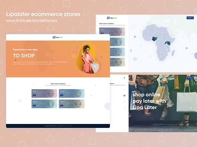 Lipalater ecommerce stores typography illustration design ios app design ux ui  ux web design interface ui design ux design android app design app design