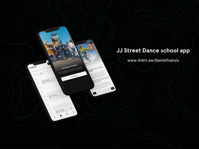 JJ Street Dance school app hipster hip hop adobe xd web design interface app design ui  ux ux design ui design dancers dance android app design design