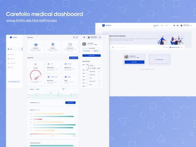 Carefolio medical dashboard ui design ui  ux android app design ux design design web design interface senior care seniors medical care medical app medicine medical