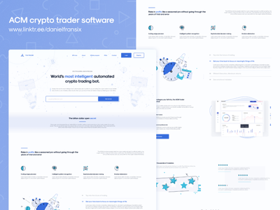ACM crypto trader software website design web design interface app design ux design android app design software design traditional art trading trade crypto currency crypto exchange cryptocurrency crypto wallet crypto