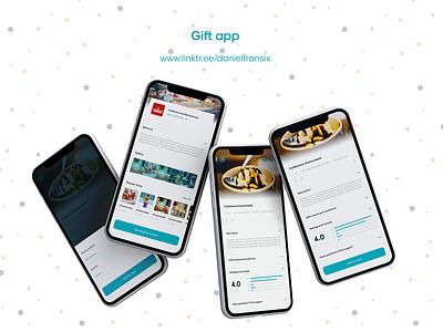 Giftie app minimalist modern ice cream food finance money app gift cards adobe xd design web design interface app design android app design ui  ux gift card gift ui design ux design