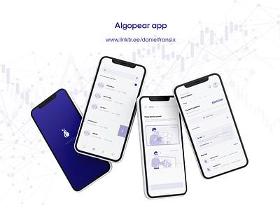 Algopear app ux adobe xd design web design interface ui  ux app design android app design ui design ux design
