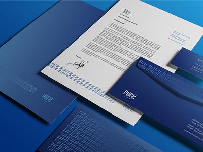 PUREBLUE / Branding identity waterlogo water design logo branding identity branding