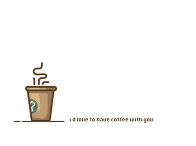 Coffee flat design icon illustration