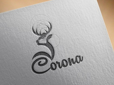 Corona' Logo deerlogo crownlogo crown deer sketch branding identity design branding logo logo design concept logo design