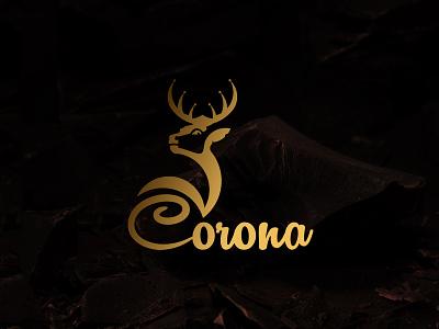 Logo Design logoconcept branding branding identity chocolate deer logo crownlogo crown design