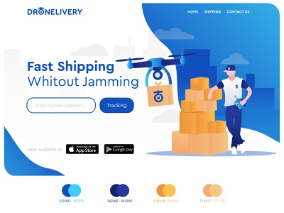 Drone + Delivery box cardboard box paper blue dji plane shipping container shipper shipping delivery deliver drones drone design illustration ui gradient branding