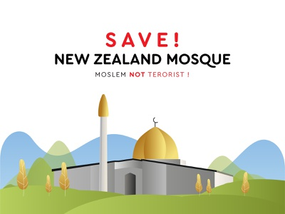 NOW YOU ARE UNDERSTANDING WHO IS THE TERRORIST OF ACTUALLY ! web ux mosque app green ui vector illustration branding gradient design logo newzealand pray christchurch islamic arabic islam muslim moslem