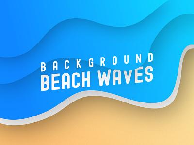 Beach Waves Background sea ocean waves background beach ux branding ui vector illustration design gradient