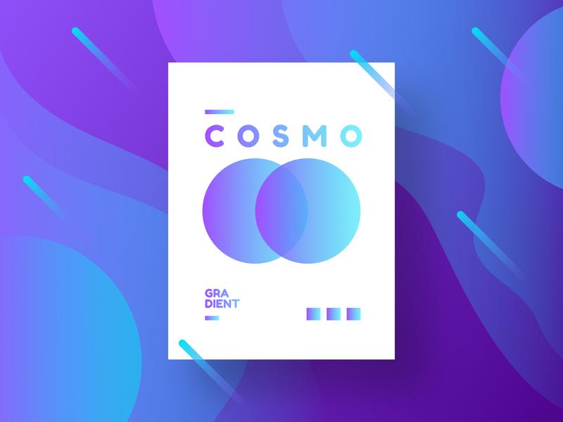Cosmo Gradient Background galaxy rocket astronaut cosmos space icon ux ui logo vector illustration gradient design branding