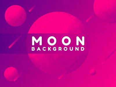 Moon Background space galaxy moon website abstract icon web app ux ui logo vector illustration design gradient branding