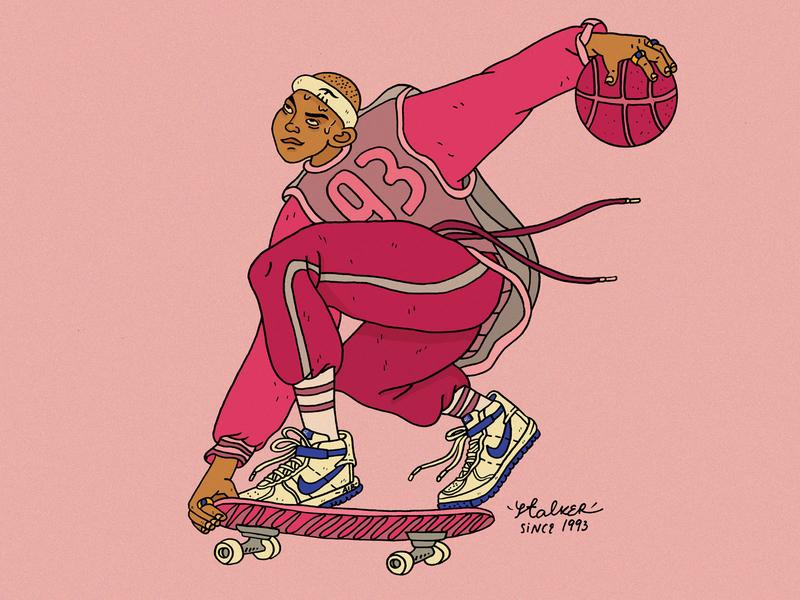 First Shot ball sneakers nikesneakers raster skatetrick nike basketball artwork debut basketballplayer skaterboy skate illustrator photoshop illustration characterdesign procreate dribbblers hellodribbble firstshot