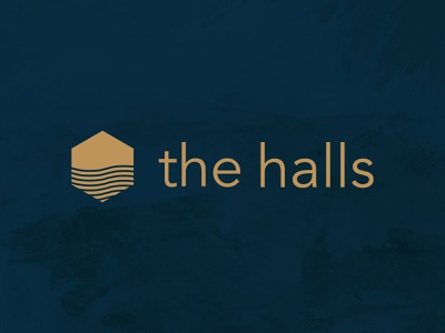 Branding: The Halls divi refresh web design website non-profit church branding christian worship musicians hall ocean sea house hexagon logo musician