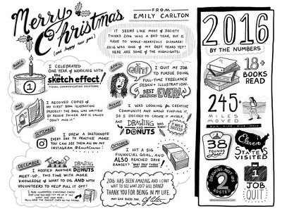 Sketch note Christmas Letter black and white illustration hand drawn lettering christmas sketchnotes