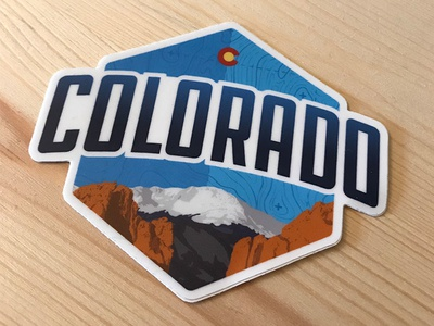 Colorado Wedding Sticker