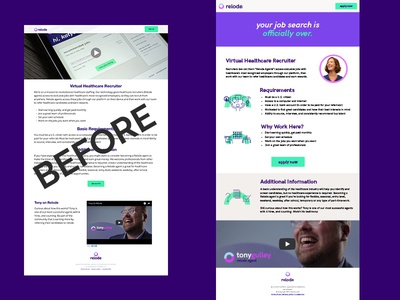 Landing Page Redesign refresh mobile landing page nashville sketch web design relode