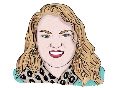 Portraits woman avatar headshot illustration portrait