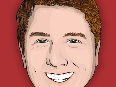 Portrait ipad pro drawing character cartoon caricature vector illustration portrait