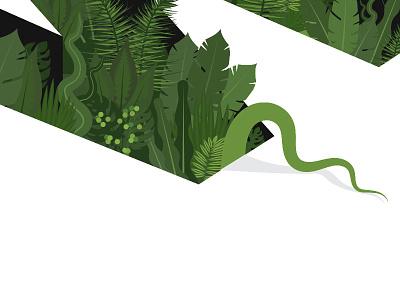 Nature illustraor rainforest amazon vine jungle nature