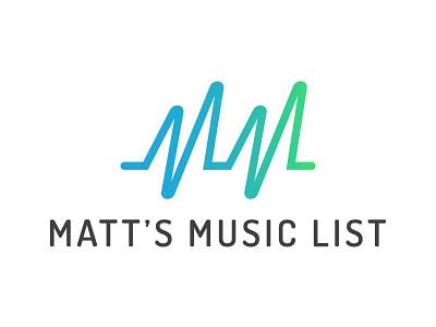 Matt's Music List Logo gradient simple music sound soundwave logo