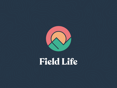 Field Life Logo badge icon missions monoline retreat coaching counseling missionary ministries nonprofit ministry logo