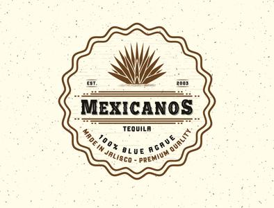 Logo vintage design for Mexicanos Tequila | Logo V2
