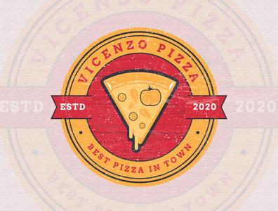 Pizza vintage badge and retro logo concept design pizza menu pizza logo pizza brand identity design logo branding graphic design