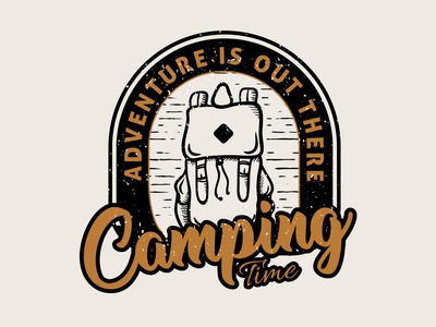 """Camping time"" Available for sale!! brand designer graphicdesigner logo designer adventure time camping logo adventures adventure camping design logo"