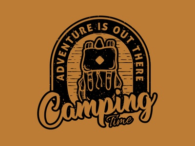"""Camping time"" Available for sale!! brand designer graphicdesigners graphicdesigner logo designers logo designer adventure time adventures adventure camp camper camping brand identity design logo branding graphic design"