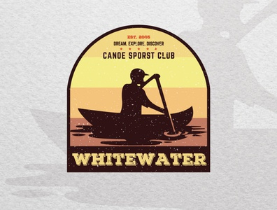 Vintage badge logo design for a Canoe Club graphicdesigner logodesigns logodesignersclub logodesigner canoeing kanoe canoe branding graphic design logo