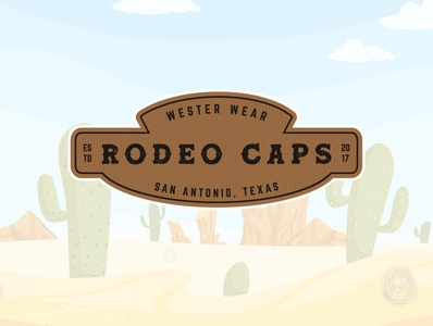 Rodeo Caps, a western concept patch design. brand design graphicdesigner logodesigner logo western patch design patch ranch rodeo