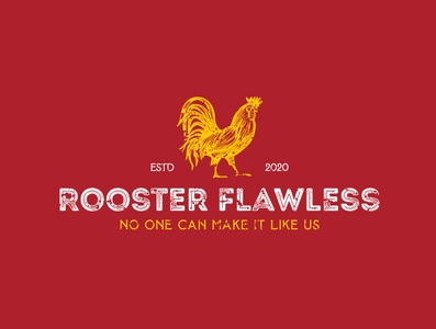 """A vintage concept logo style """"Rooster Flawless"""" logodesigner branding graphic design logo food logo fast food logo fast food fastfood chicken logo chicken"""