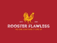"A vintage concept logo style ""Rooster Flawless"" logodesigner branding graphic design logo food logo fast food logo fast food fastfood chicken logo chicken"